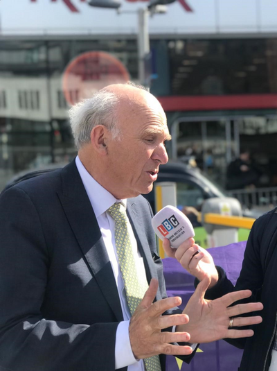 Sir Vince speaks to LBC at Birmingham New Street for European Elections 2019