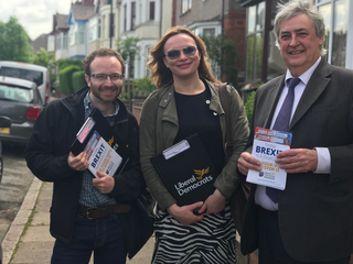 Coventry Lib Dems canvassing and leafleting with Phil Bennion