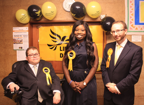 Coventry Liberal Democrats General Election Candidates (from Left to Right - Greg Judge, Nukey Proctor, Stephen Richmond)