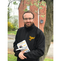 Stephen John Richmond in Lib Dem jacket.