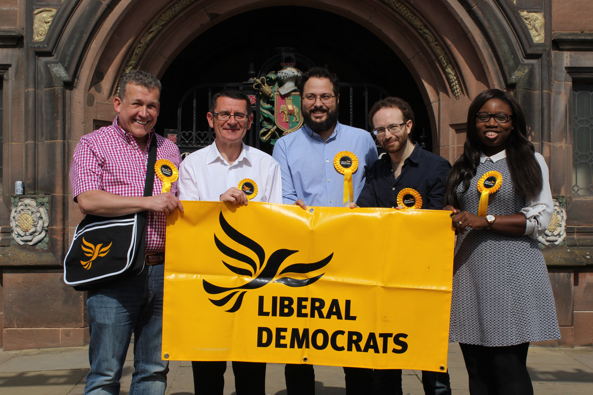 Coventry Lib Dems outside Coventry Council House